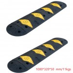 Road Safety Any Sizes High Reflective Rubber Speed Bumps /Speed Hump